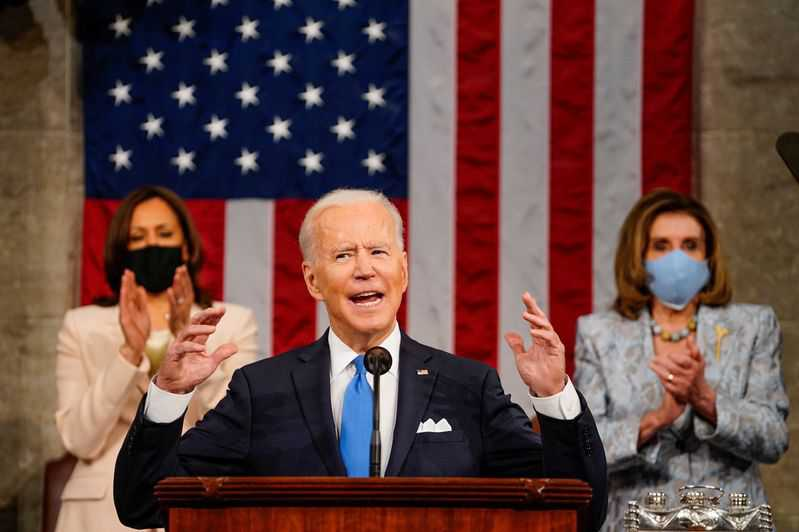 China 'closing in fast,' Biden warns Congress, as he asks for trillions in spending