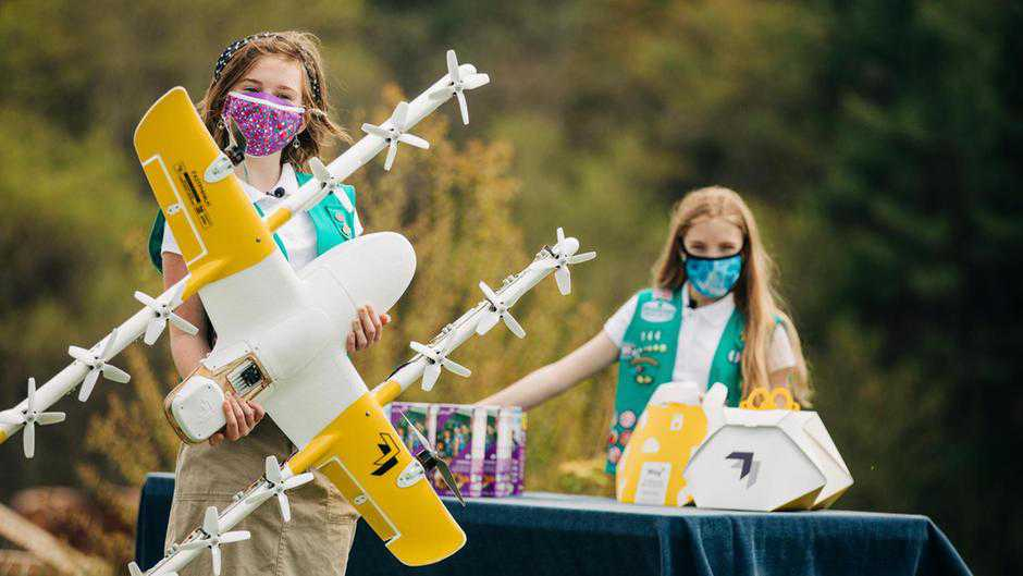 Girl Scout cookies fly with drone deliveries
