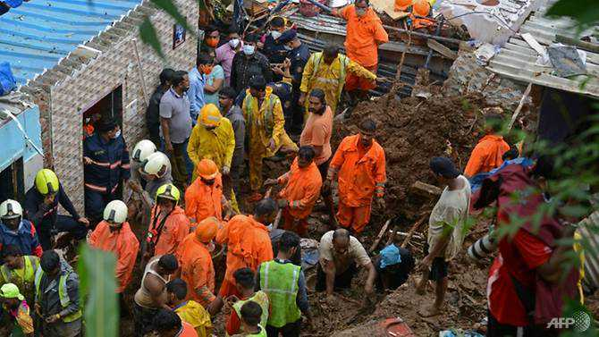 At least 23 killed in landslide, wall collapse in Mumbai monsoon rains