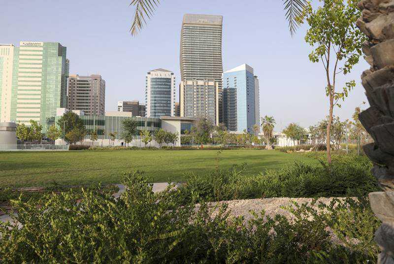 Inside the new Sheikha Fatima Park in Abu Dhabi